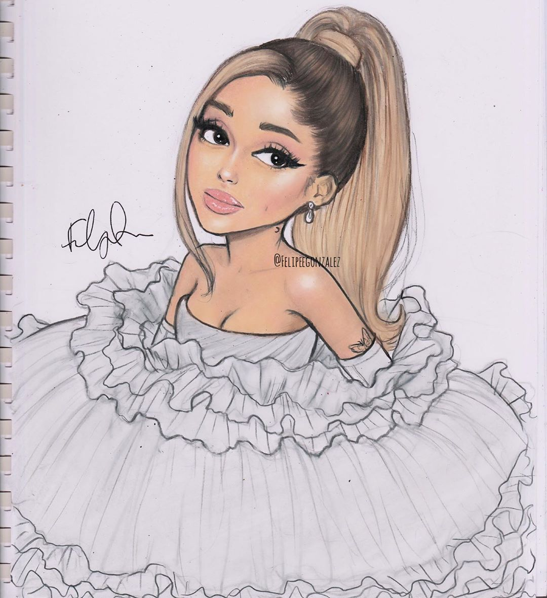 Pin On Ariana Grande Drawings