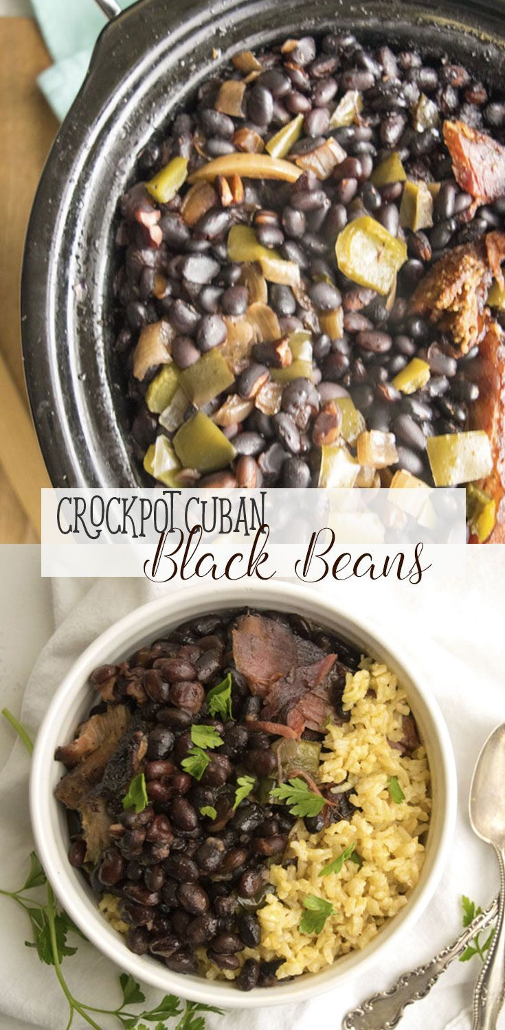 Crock Pot Cuban Black Beans #cubanrice