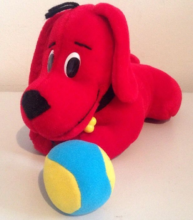 Clifford The Big Red Dog Plush Scholastic W Attached Play Ball