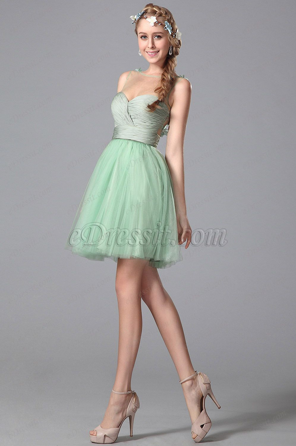 2ea93750b11 Fresh green party dress!  edressit  cocktaildress  partydress   homecomingdress  2015newest
