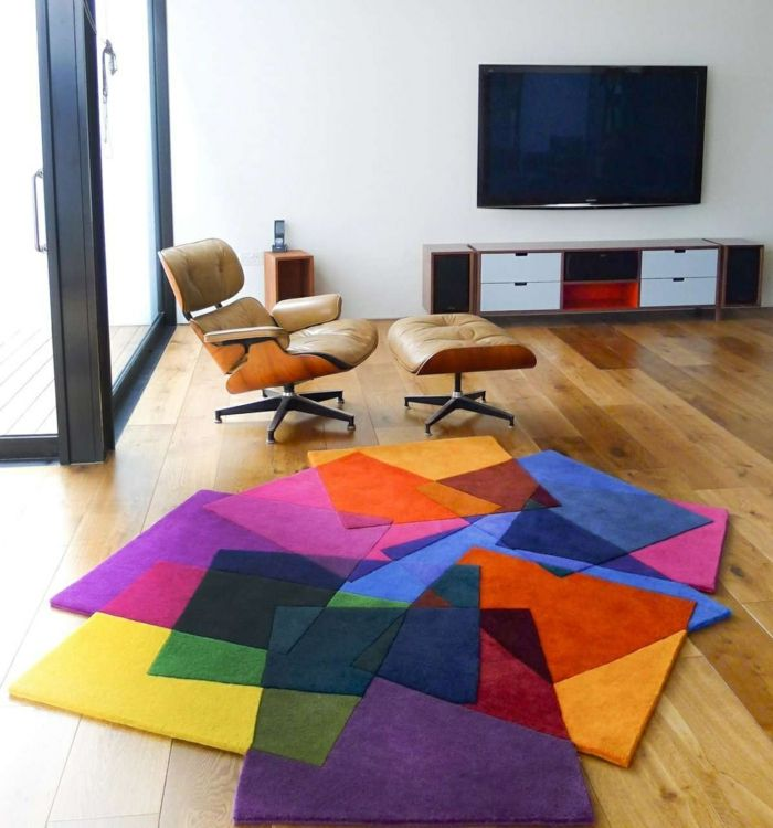 impressionnant tapis salon couleur