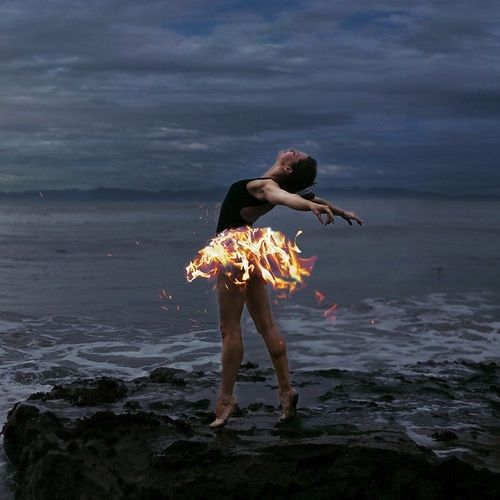 This girl is on fire