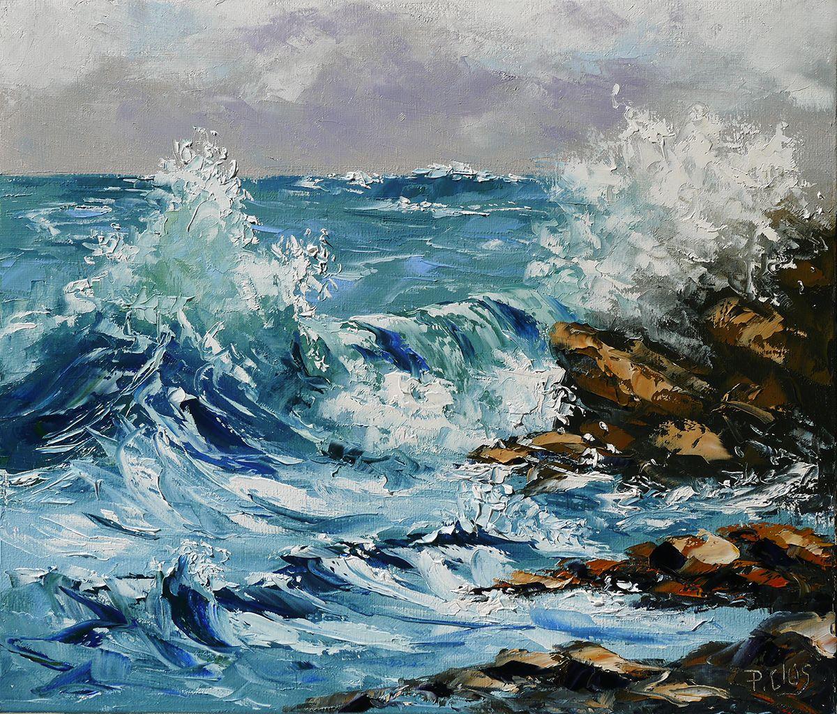 Dessin et peinture - vidéo 1821 : La mer