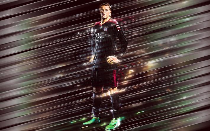 Download Wallpapers Manuel Neuer 4k Creative Art Blades Style Goalkeeper Captain Bayern Munich German Footballer Bundesliga Germany Red Background Li Sports Wallpapers Creative Art Colorful Wallpaper