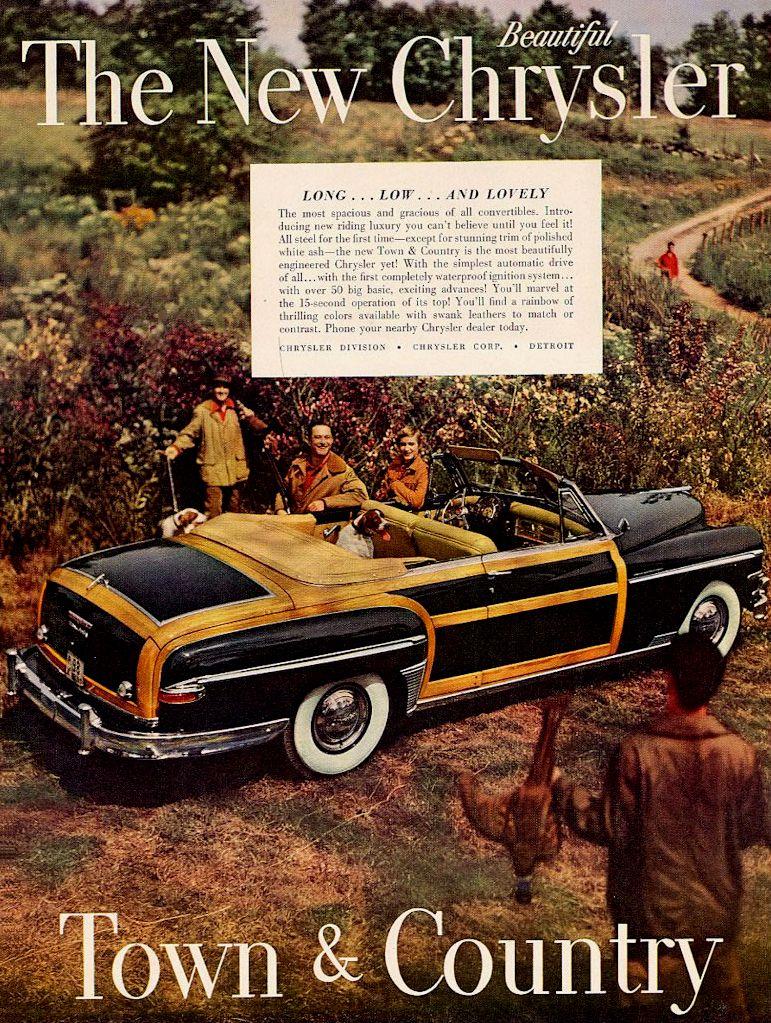The New Chrysler Town Country 1949 Chrysler Car Advertising