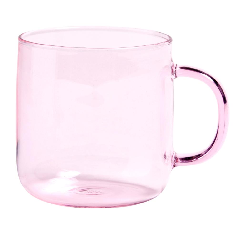 Hay Glass Mug Pink Mugs Borosilicate Glass