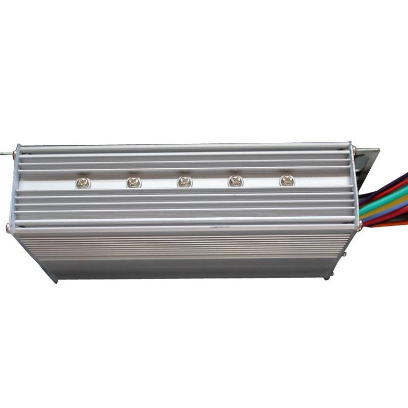36V 500W 30A Electrocar Brushless Motor Controller Aluminium Slivery