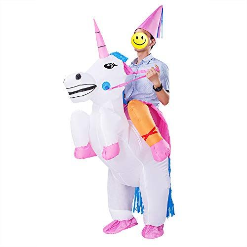 cd3506a7f0b8e ESHIRYU Halloween Inflatable Costumes Inflatable Unicorn Rider Costume for  Adults Men&Women (Unicorn) Tag anyone who should wear this!