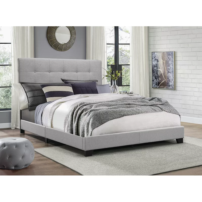 Finnigan Tufted Upholstered Standard Bed In 2020 Grey