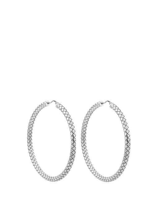 Intrecciato drop hoop earrings Bottega Veneta 6wEM2GhM