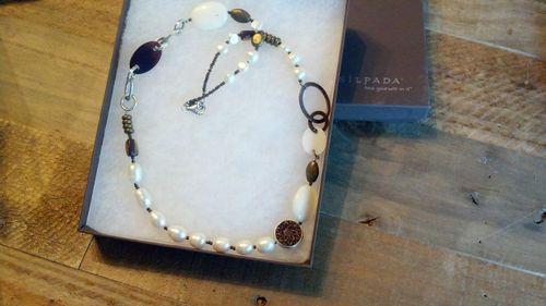#happybeachyblond  ebay Silpada Necklace N1996 Sterling Silver Pearls Carved Bone