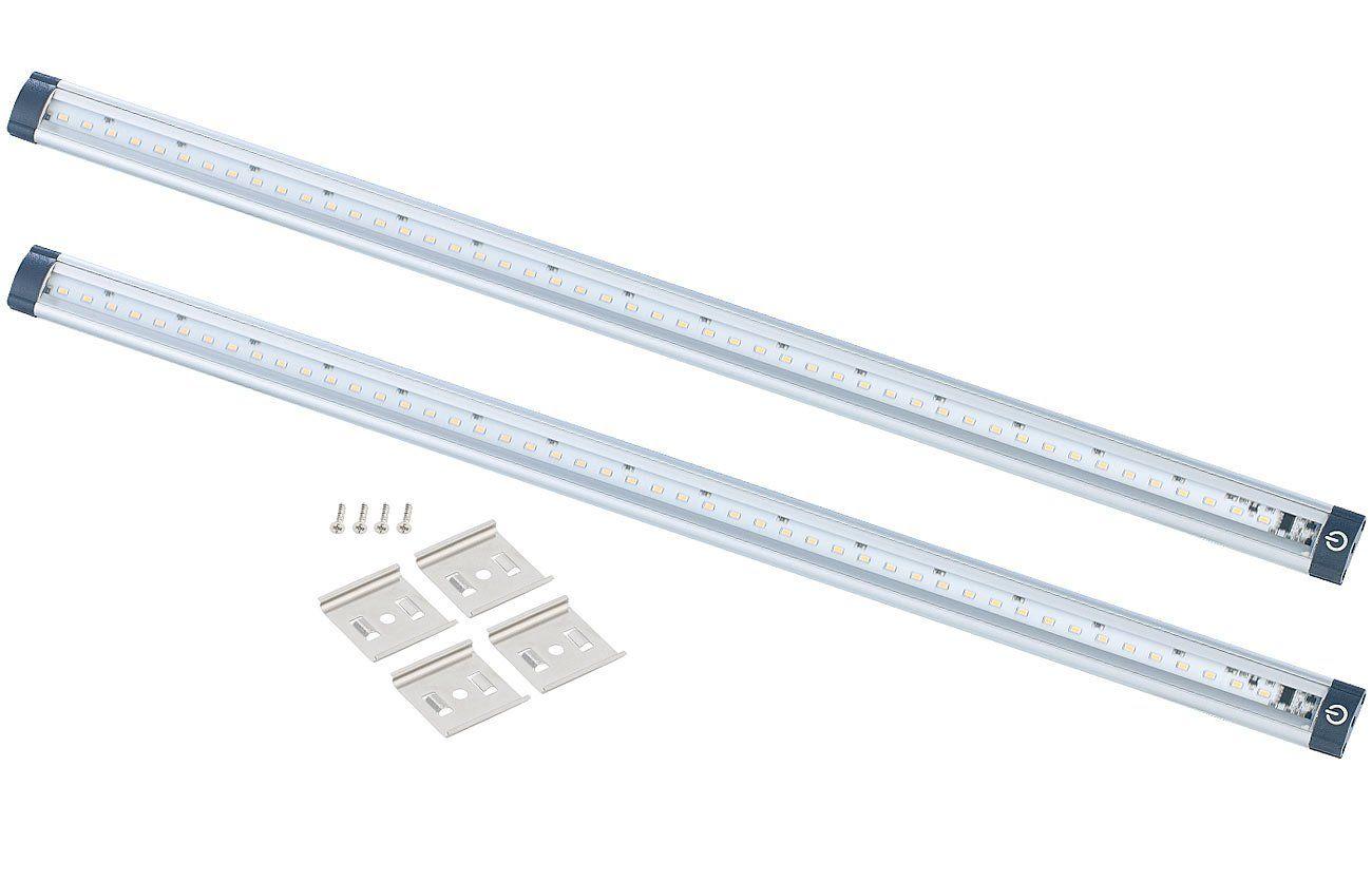 Luminea Ledleiste K Che Led Unterbauleuchten 2er Set 50 Cm Touch Sensor 5 Watt 3000 K Unterbauleuchte K Che In 2020 Unterbauleuchten Led Leuchten
