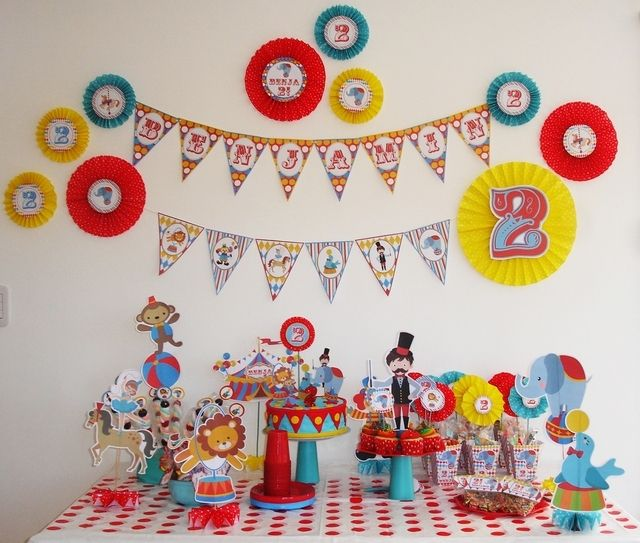 circus theme party decoration ideas