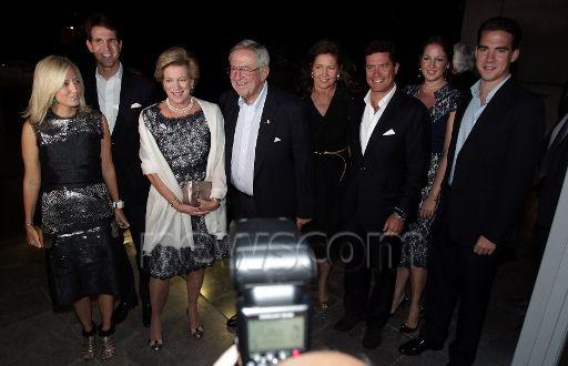 Constantino y Ana María de Grecia comienzan la celebración de sus bodas de oro. Cena familiar en el Museo de la Acrópolis. 17/9/2014