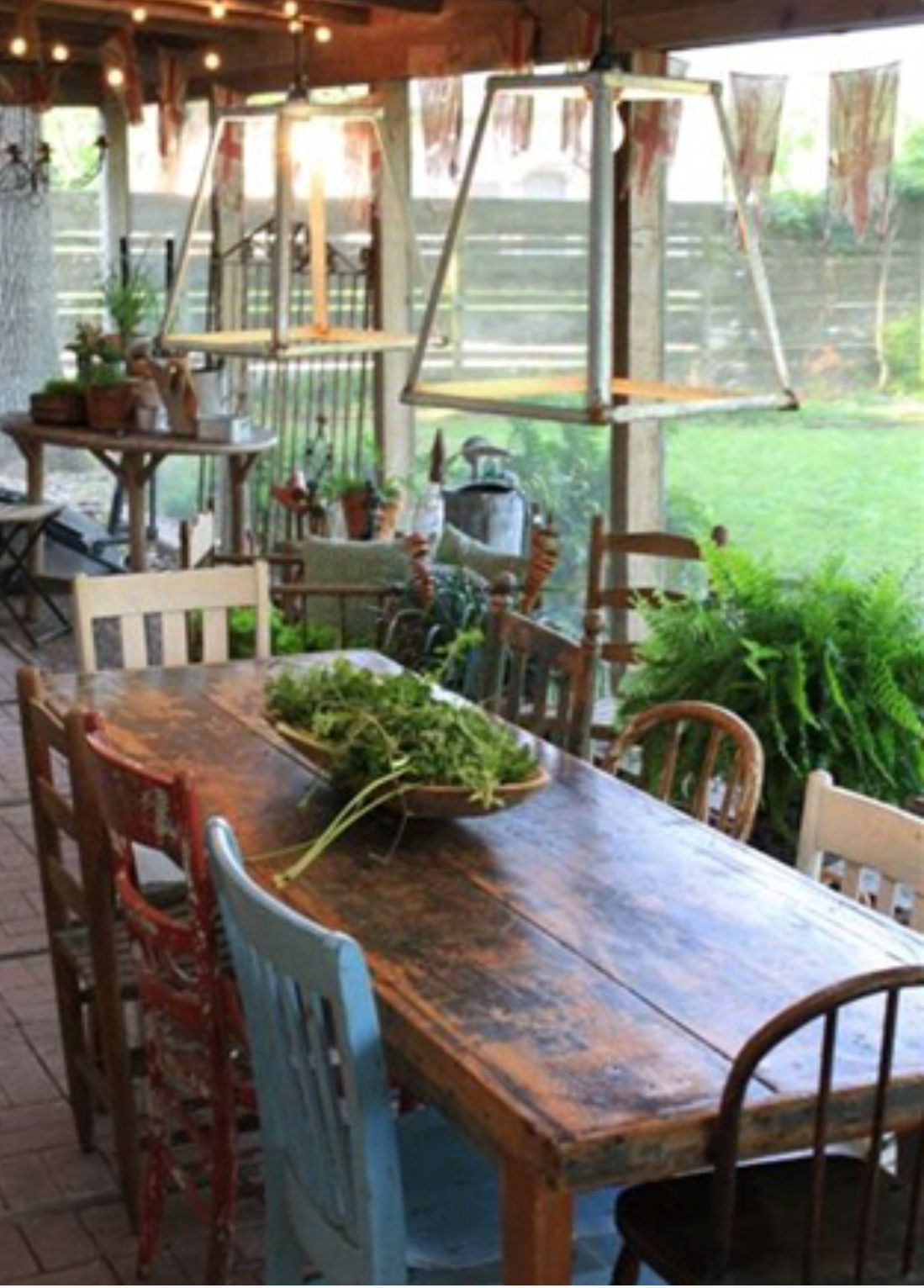 Pin By Ron Berger On Pallet Furniture Farmhouse Patio Porch Table Outdoor Dining