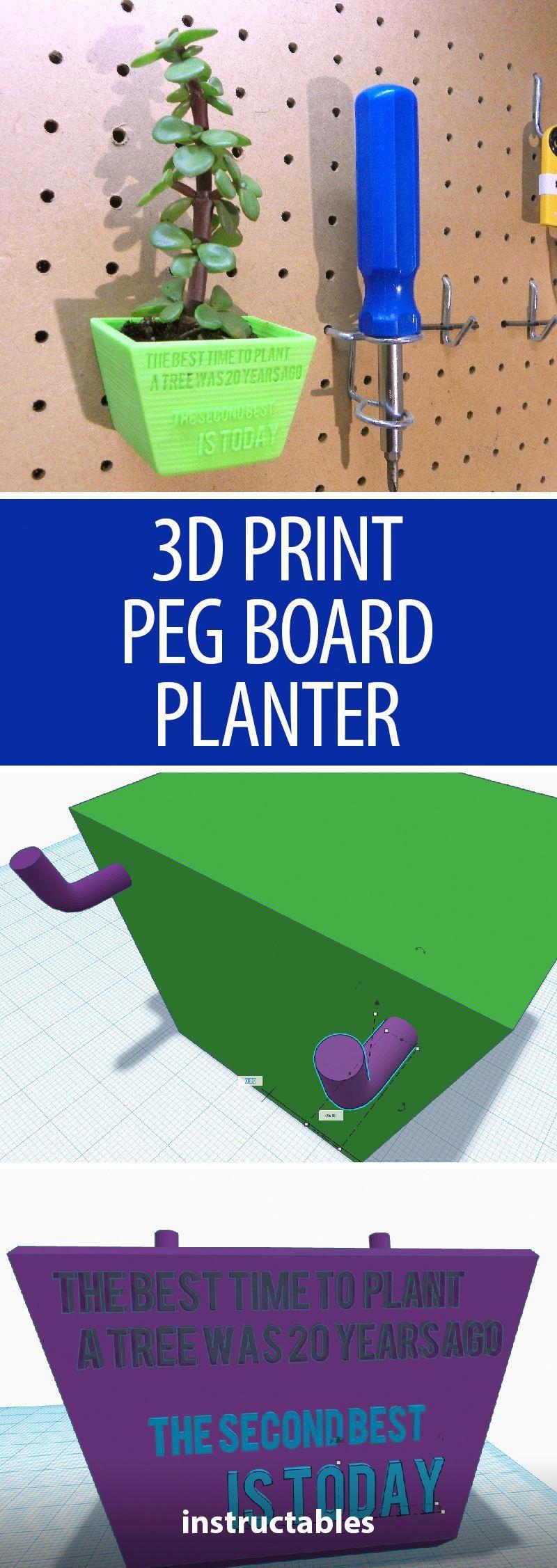 TinkerCAD 3D Print Peg Board Planter 3dprinting 3d