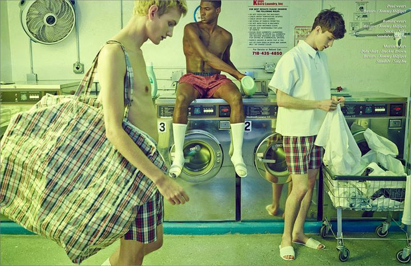 Laundry Day #schonmagazine 'Laundry Day', Abiah Hostvedt, Duncan Proctor, Martin Conte, Paul Boche and Ronald Epps captured by the lens of Georgia Nerheim and styled by Seymour Glass, for the latest issue of Schön magazine. #schonmagazine