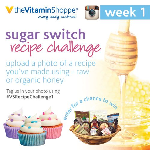 Follow us on Instagram for our August Sugar Switch Recipe Challenge. Your weekly recipe could win you a $100 prize basket filled with natural sweeteners from Madhava, Pyure, Navitas and YS Organics