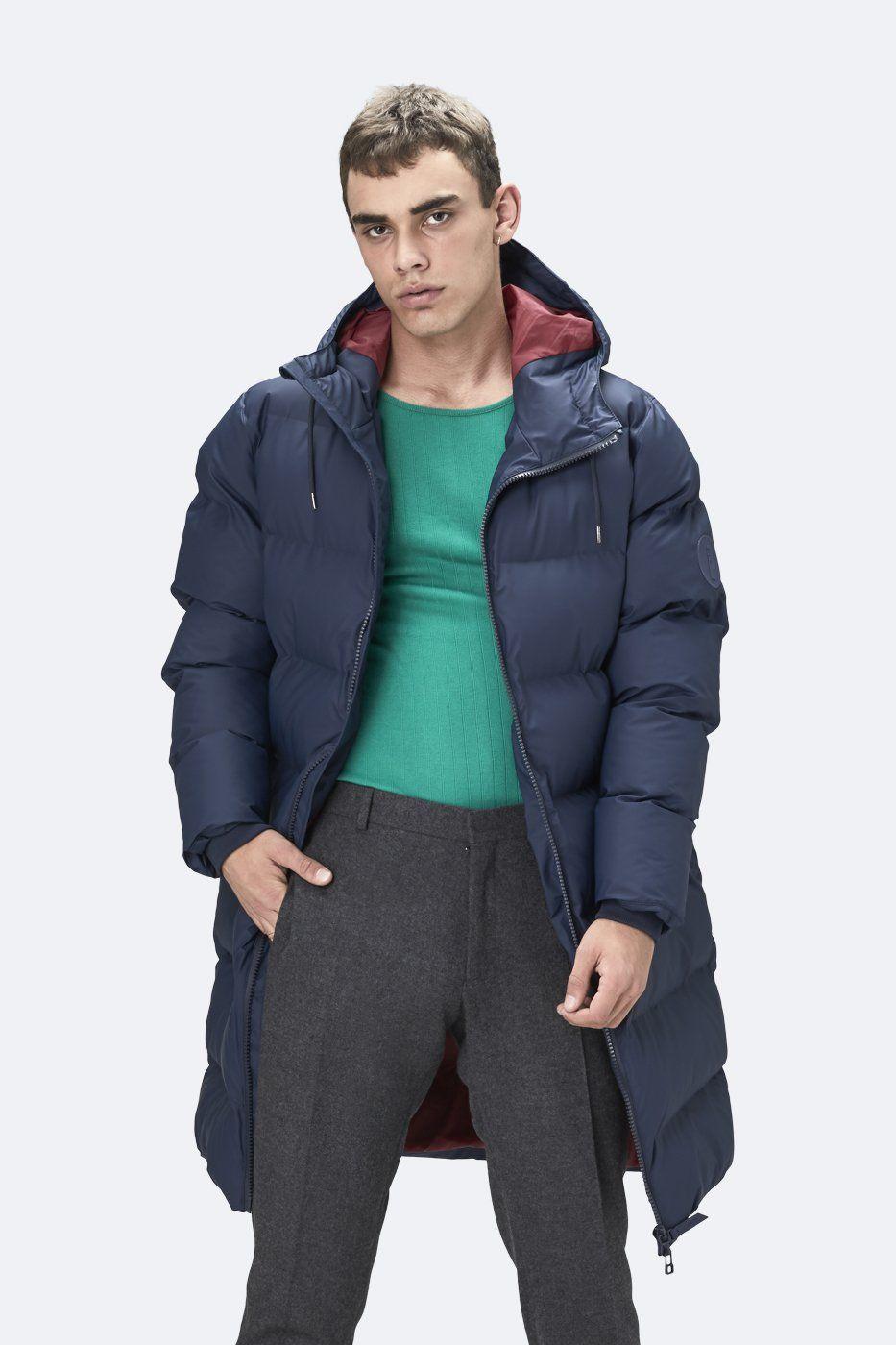 Rains Rains Men S Long Puffer Jacket Rains Cloth Long Puffer Jacket Puffer Jacket Long Rains [ 1400 x 933 Pixel ]