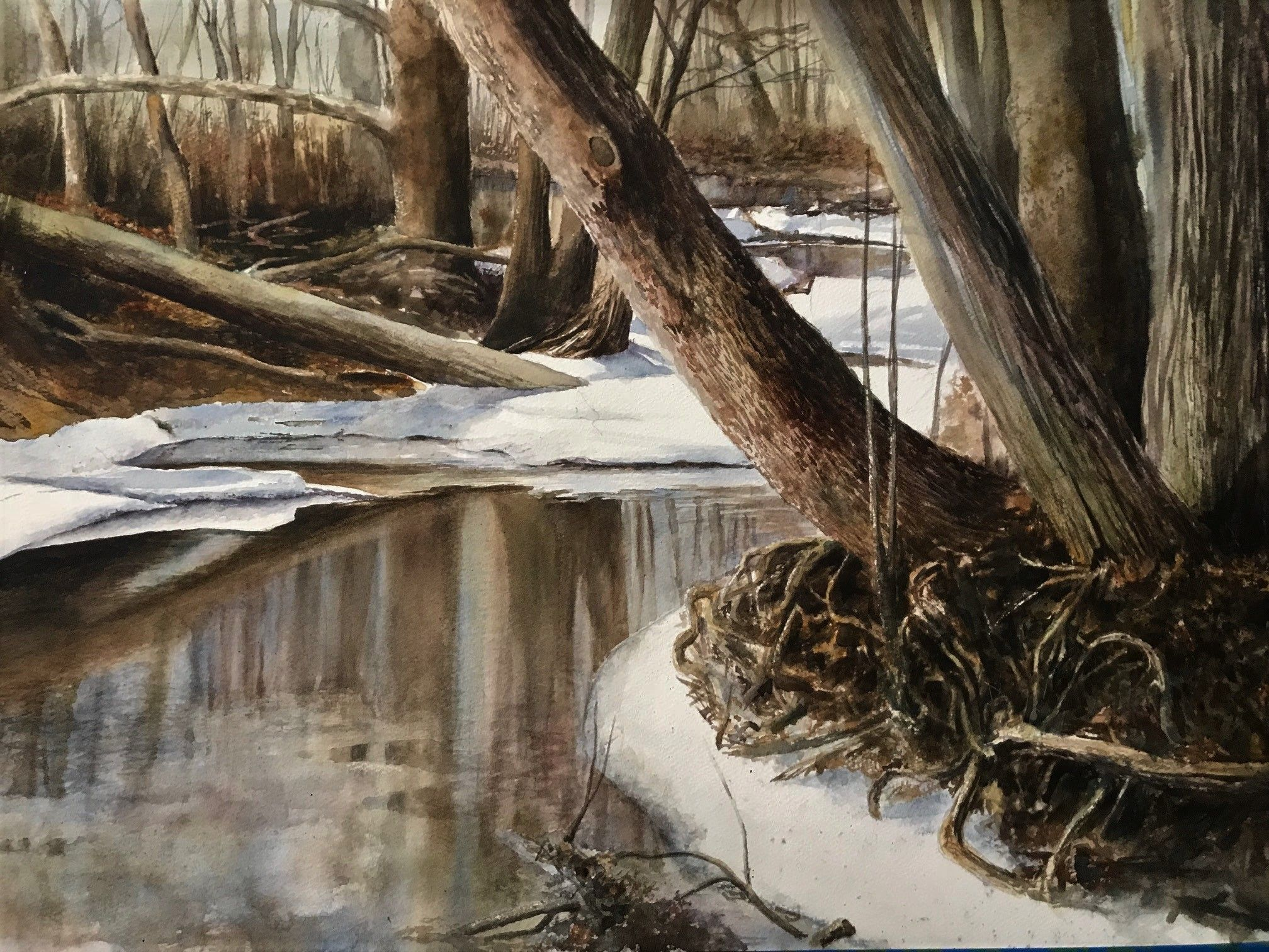 breakup a watercolor painting by tim wadsworth something to make you feel cool on these muggy spring days tim wadsworth barbara moore fine art exhibition pinterest