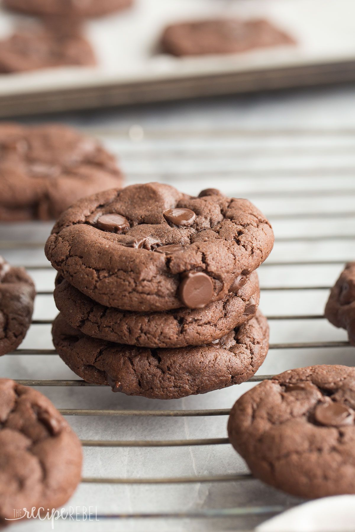 4 Ingredient Double Chocolate Cookies are so easy but you