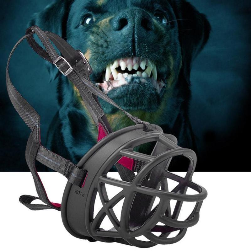 Pet Muzzle Plastic Anti Bark Bite Mouth Straps Mouth Training Mask