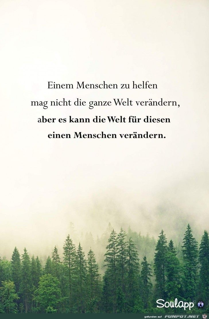 einen Menschen zu helfen | Quotes and notes, German quotes
