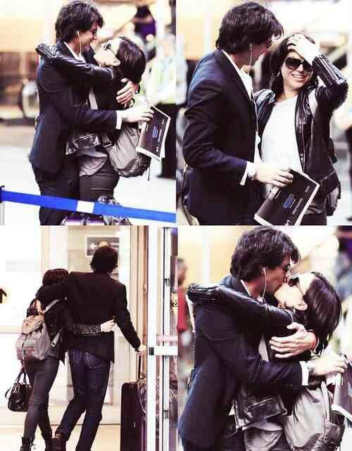 kiss cam Lana Lana Parilla  with fiance Alfredo Di di Blasio