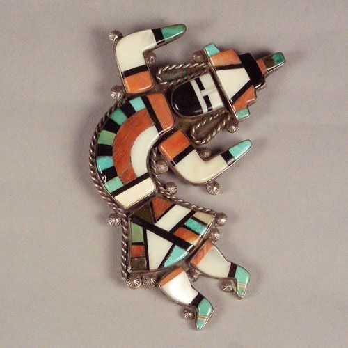 Rainbow Man Inlay Pin, c. 1950