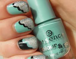 Green nailart