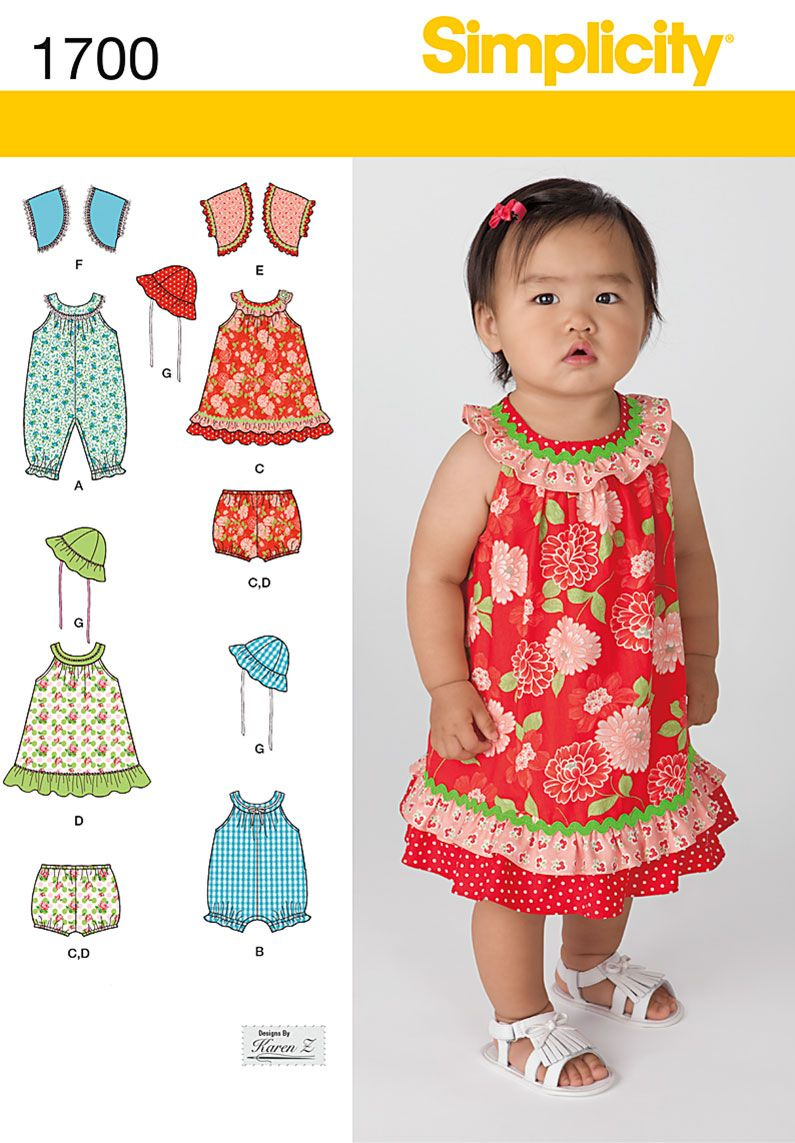 Simplicity 1700 From Simplicity Patterns Is A Babies
