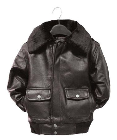 6d8802cd2 This Brown Leather Pilot Bomber Jacket - Infant