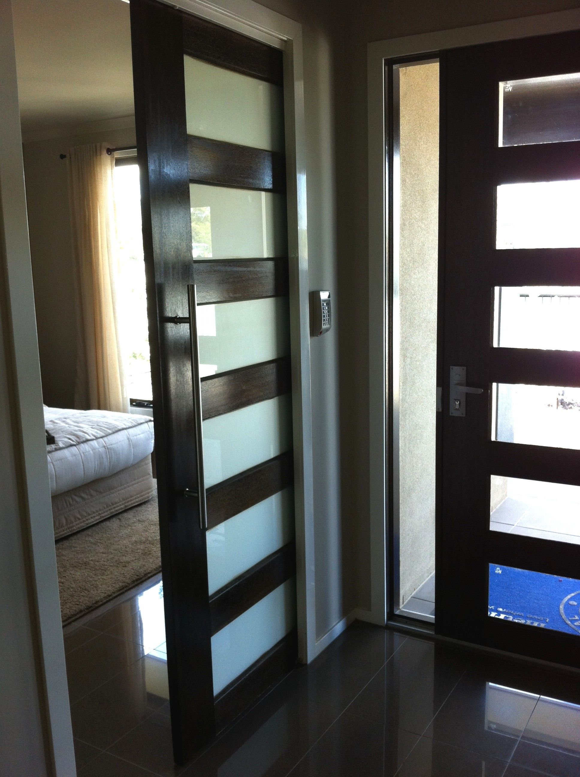 Entrance Door With Sliding Door To Master Bedroom House