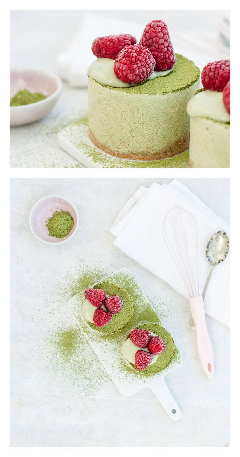 Matcha Hafer Mini Cheesecakes | TheVeggieKitchn Blog