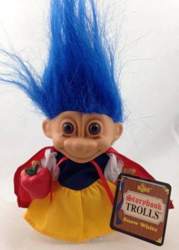 Storybook Snow White Russ Troll Doll Blue Hair Le Red Cape