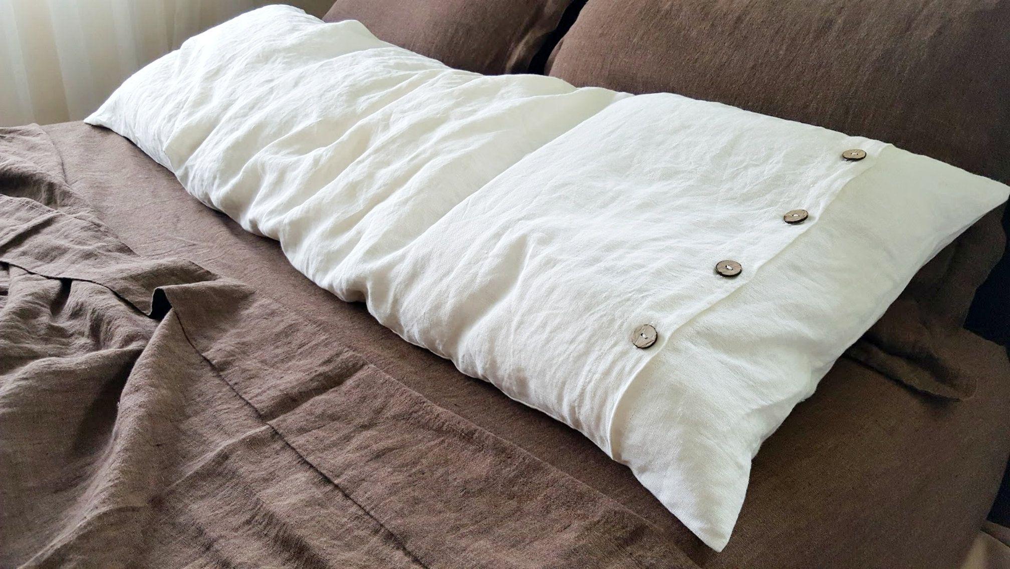 Linen Pillow Case Sham Cushion Cover Slip Pure Natural European Bedding