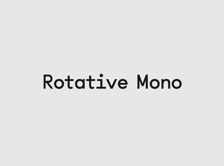 Rotative Mono — Alex W. Dujet