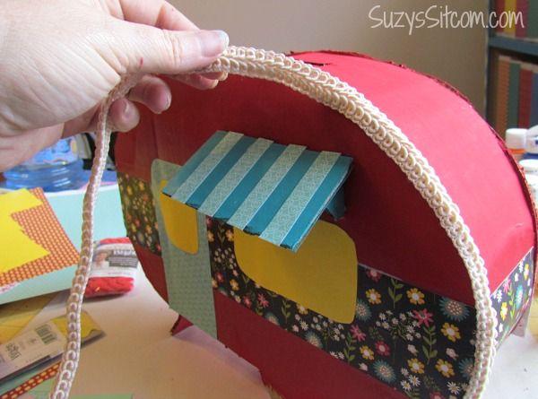 Create a Happy Camper Valentine Card Box  Cardboard boxes Box