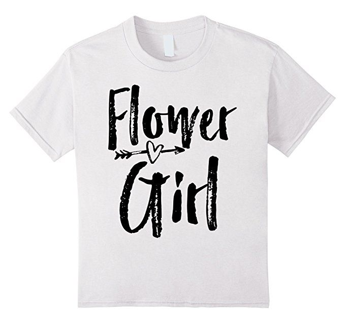 7115683ee2391 Amazon.com: Flower Girl Shirt with Arrow Design. Bridal Party T ...