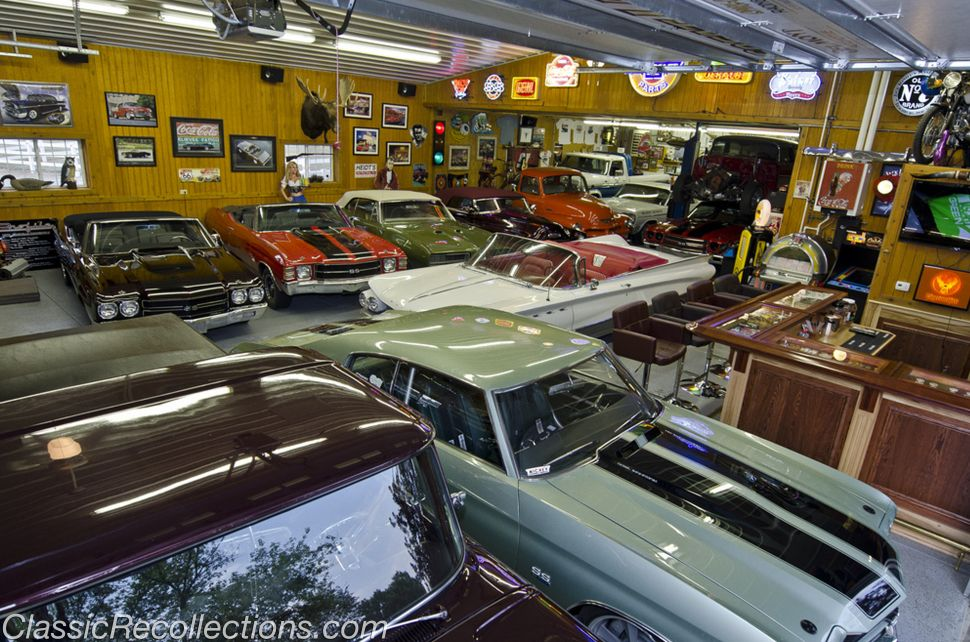 Interior The Collections Of Classic Car With Cool Car Garage