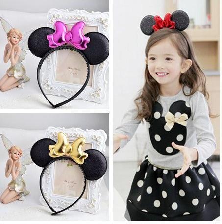 Toddler Cute Girl Hair Clip Bow Baby Kids Acrylic Cartoon Car Headband