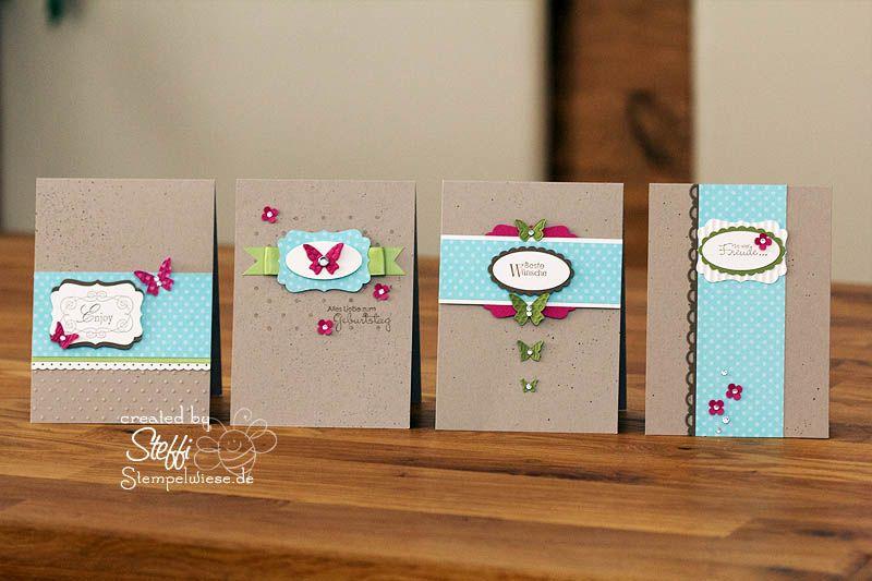 Clean simple 4 auf einen streich einfache streiche for Pinterest geburtstagskarte