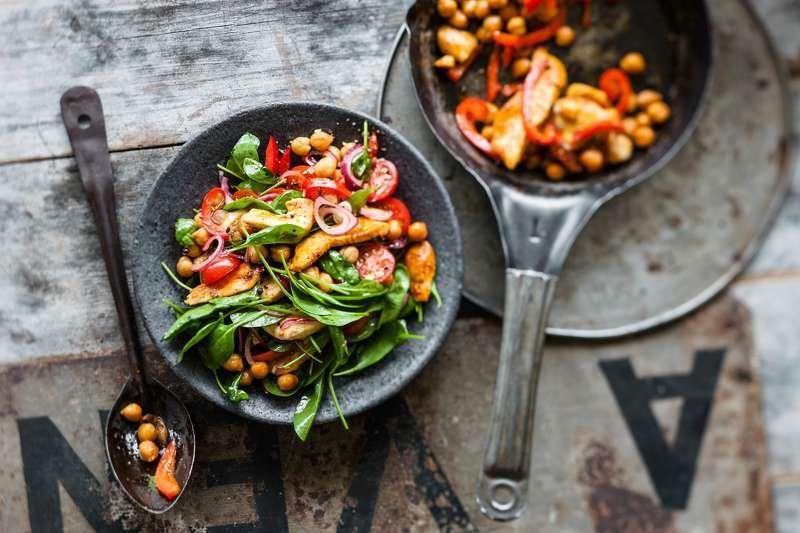 Lauwarmer Hahnchen Kichererbsen Salat Rezept Fit For Fun Rezept Kichererbsen Salat Kichererbsen Rezepte