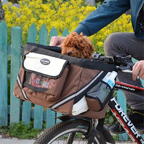 Bike Front Bag Dog Bags Comfort Carrier for Cats Small Travel Pet Carriers Bicycle Handlebar Removable Basket -- Learn more by visiting the image link.(This is an Amazon affiliate link and I receive a commission for the sales)