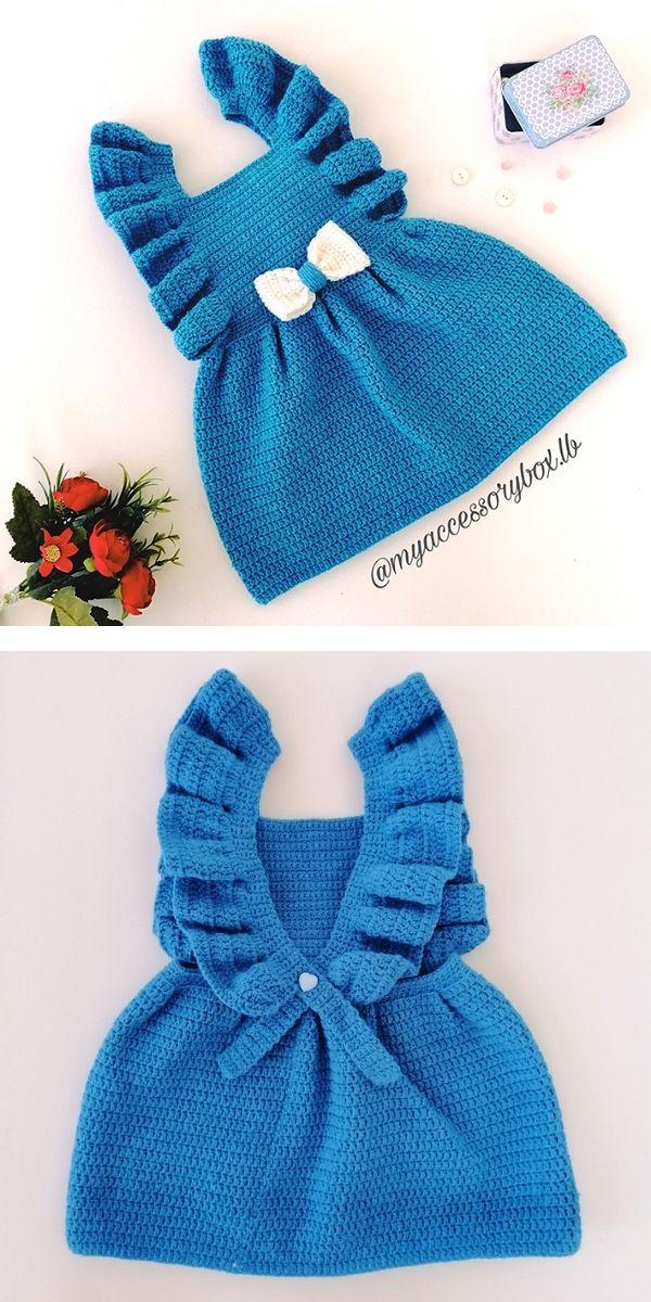 Enchanted Baby Dress Free Crochet Pattern