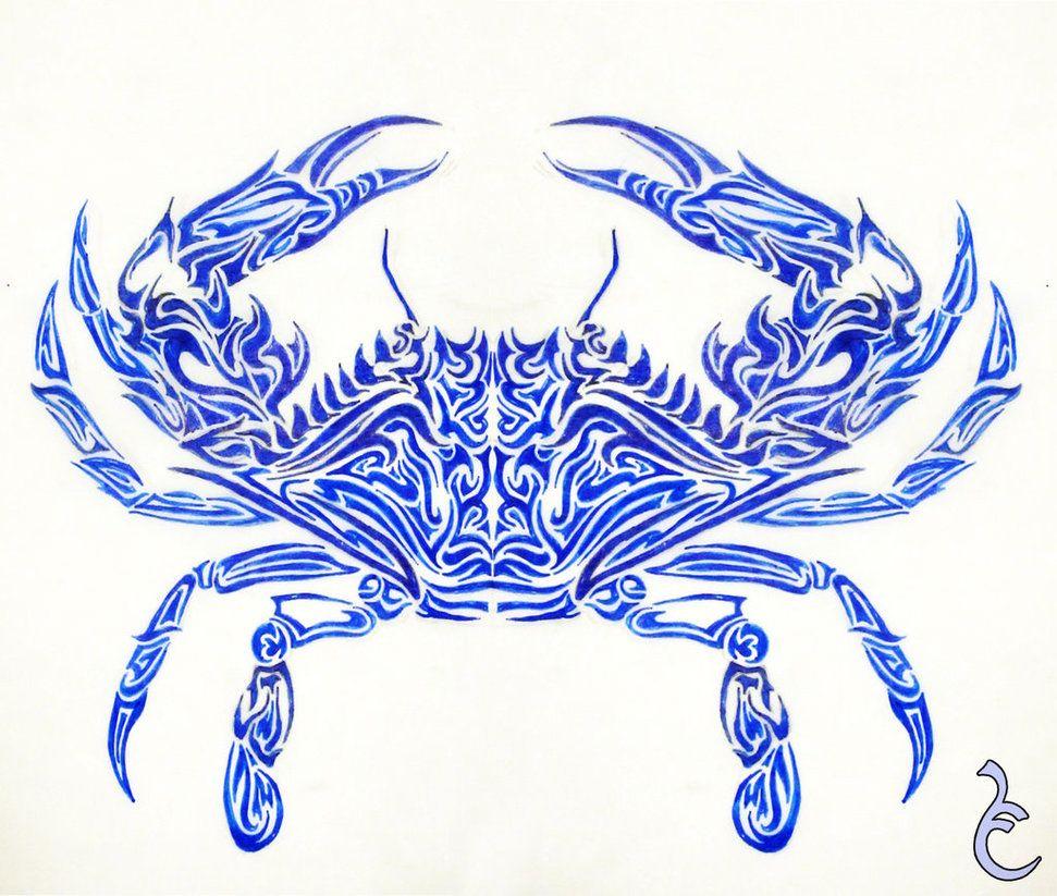 Blue Crab Tattoo Design by Griffon2745   randoms   Pinterest