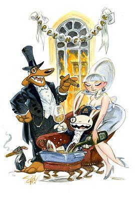 Sam & Max celebrate 2012.