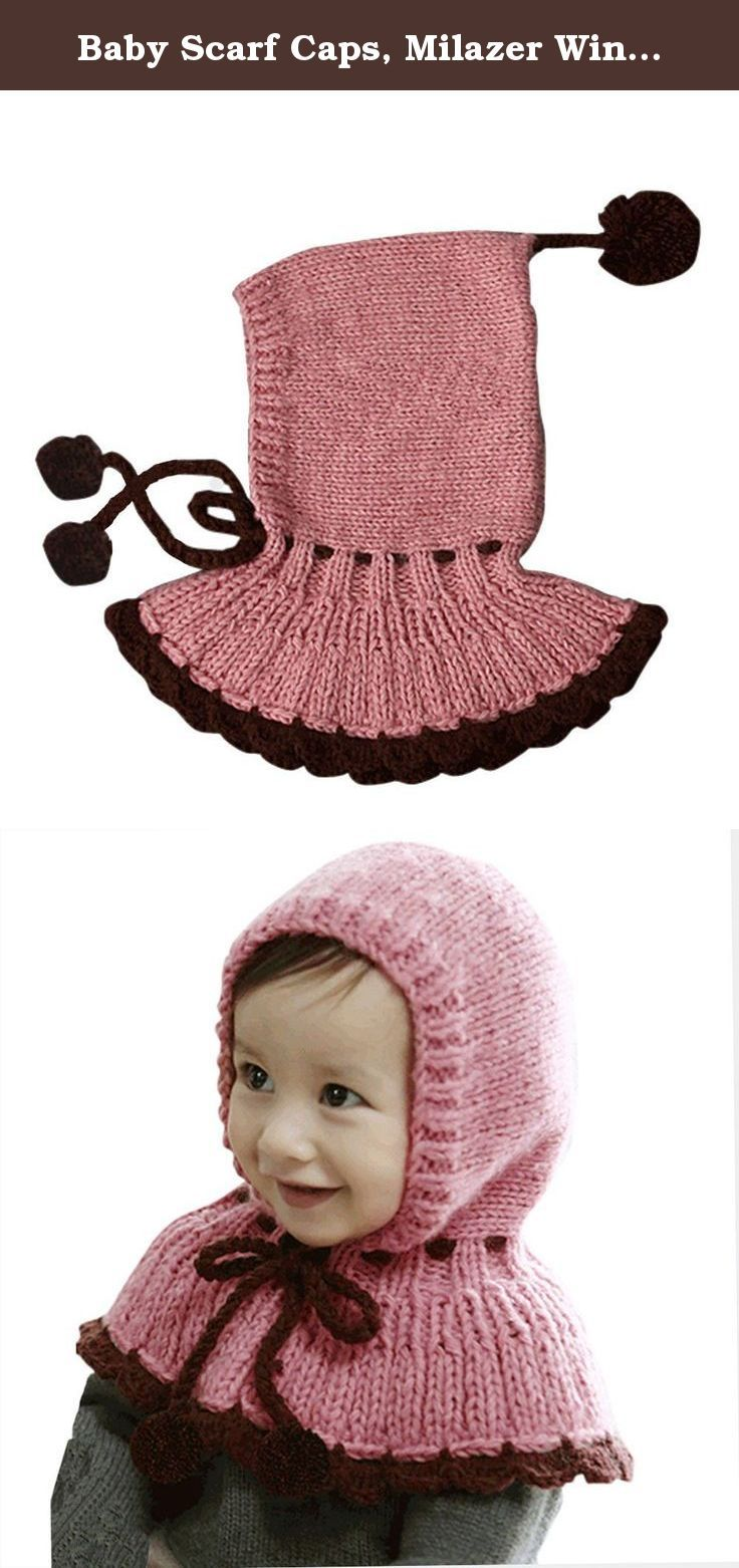Baby Scarf Caps, Milazer Winter Baby Kids Girls Boys Warm Woolen Coif Hood Hats (Pink). Package Include: 1X Hat (without retail package) Note: All dimensions are measured by hand, there may be 1-2 cm deviations Due to the difference between different monitors, the picture may not reflect the actual color of the item. We guarantee the style is the same as shown in the pictures The picture shown is not the actual size of the item,It is may bigger than the actual, so read the descriptions...
