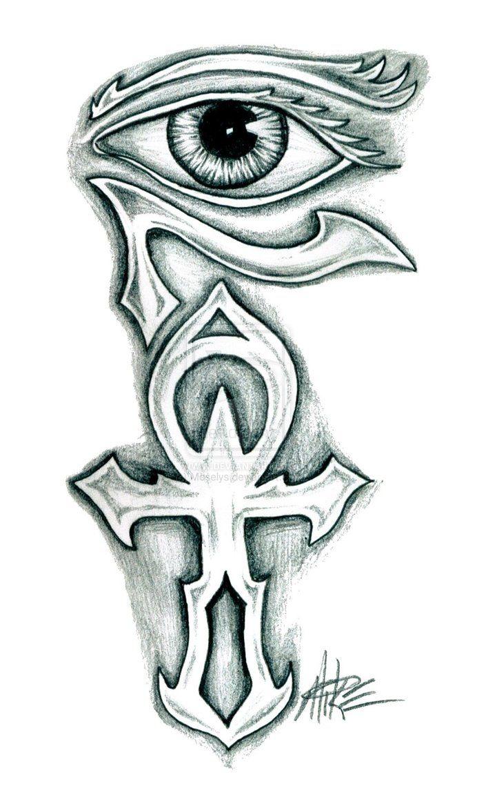 Egyptian Ankh Phoenix Eye Of Horus Tattoo Design Photo 5 Tats
