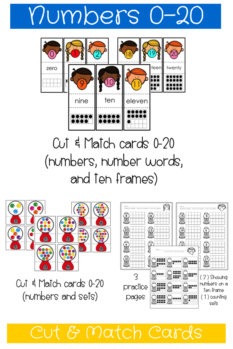 Numbers 0-20 | Math | Pinterest | Number words, Ten frames and Number